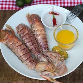 Steamed Tatampal (Mantis Shrimp)
