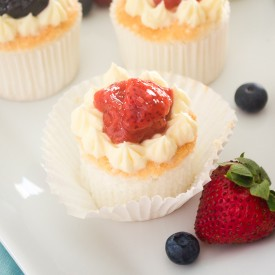 Angel Food Cupcakes w/Berry Compote