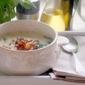 Zuppa Toscana With Meat And Spinach