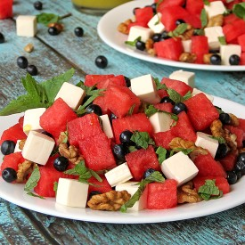 Blueberry Watermelon Feta Salad