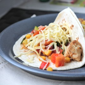 Chicken and Vegetables Taco