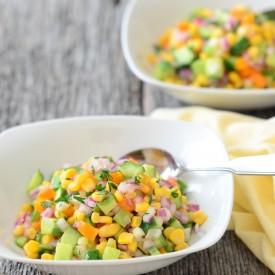 Cucumber Corn Relish Salad