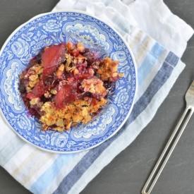 Blueberry and Peach Crisp