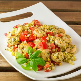 Shrimp, Corn & Tomato Salad w/Pesto