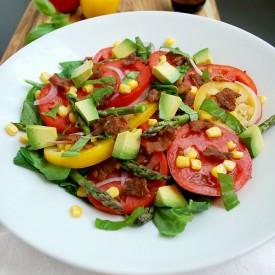 Tomato, Bacon, and Corn Salad