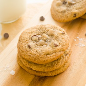 Salted Choc Chip Espresso Cookies