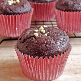 Dark Chocolate Beetroot Muffins
