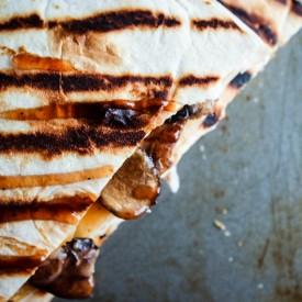 BBQ Mushroom Quesadillas