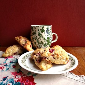 Strawberry Basil Buttermilk Scones