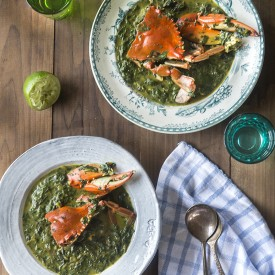 Callaloo Stew with Blue Crab