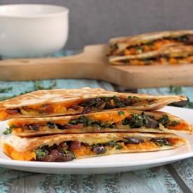 Kale Sweet Potato Quesadillas