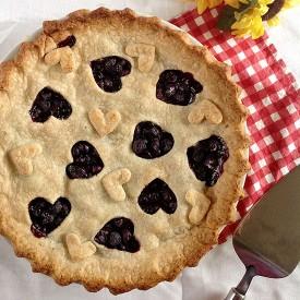 Cutaway Blueberry Pie