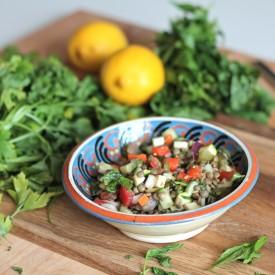 Lentil Lemon Mint Salad