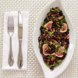 Mixed Green Farro Saald & Fresh Fig