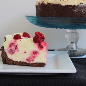 Raspberry White Choc Cheesecake