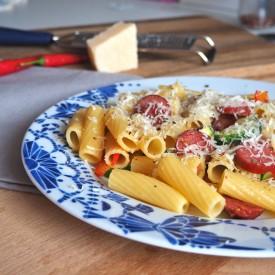 Cabanosi and Zucchini Penne