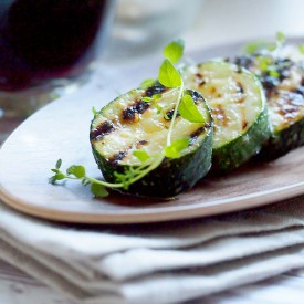 Grilled herbed courgette