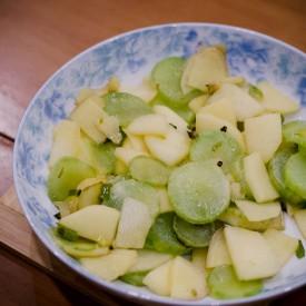Ginger Apple Celtuce Stir Fry