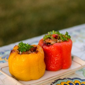 Juicy Stuffed Peppers with Cinnamon