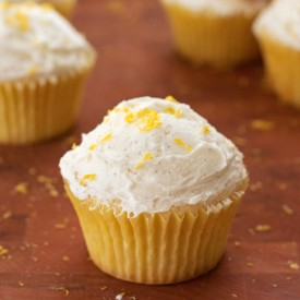 Lemon Cupcakes VanillaBean Frosting
