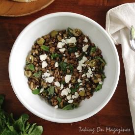 Lentil Salad with Olives