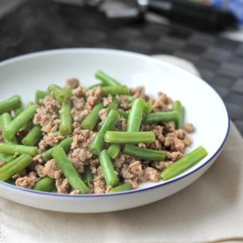 Minced meat with long bean