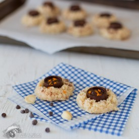 Raw Macadamia Thumbprint Cookies
