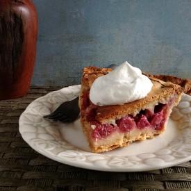 Raspberry-Brown Butter Custard Pie