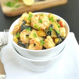 Creamy Shrimp, Potatoes & Kale {GF}