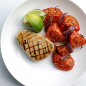 Tuna with Roasted Rosemary Tomatoes