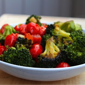 Roasted Broccoli and Tomato Salad