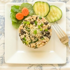Black Beans & Brown Rice With Garli
