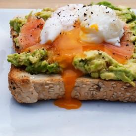 Avocado, Poached Egg & Salmon Toast