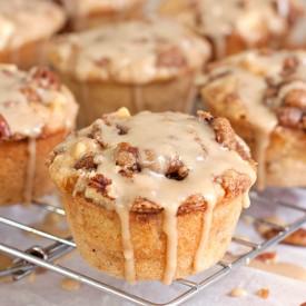 Salted Caramel Apple Muffins