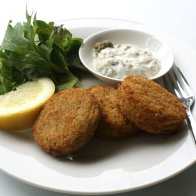 Cod Fish Cakes and Caper Mayonnaise