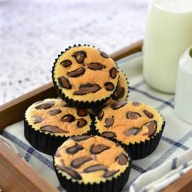 Leopard Print Orange Sponge Cupcake