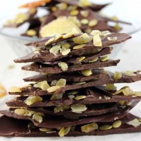 Dark Chocolate, Ginger, Pepita Bark