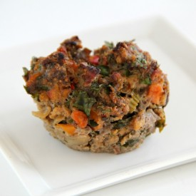 Cherry Chipotle Meat Loaf Cupcakes