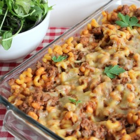 Beef, Bean, and Macaroni Casserole