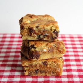 Triple Choc Caramel Cookie Bars