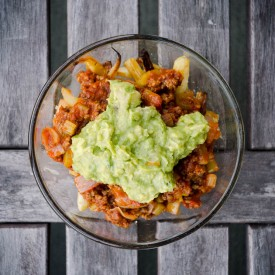 Paleo Chili Guacamole Parsnip Fries