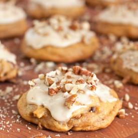 Pumpkin Cookies with Maple Glaze