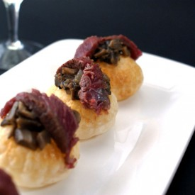De-constructed Beef Wellington Canapes