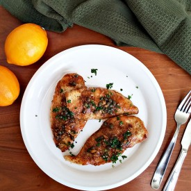 Meyer lemon chicken picatta