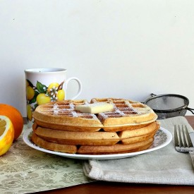 Meyer lemon waffles