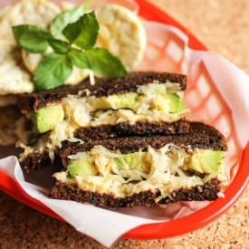 Grilled Sauerkraut Avocado Sandwich