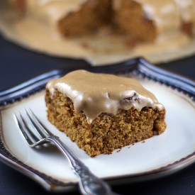 Glazed Pumpkin Muffin Cake {GF, V}