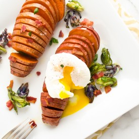 Hasselback Sweet Potatoes 3 Ways