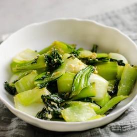 Chinese Ginger and Garlic Bok Choy