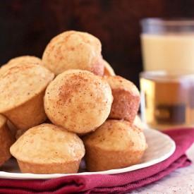 Rum Glazed Eggnog Mini Muffin Donut